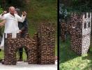 dřevěná kulisa hradu
