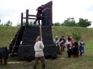 dobývací věž - v pohybu